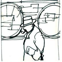 Maigret disegnato da Ferenc Pintèr