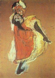 Studio per Jane Avril (1893), olio alla trementina, 99X72 cm, collezione privata