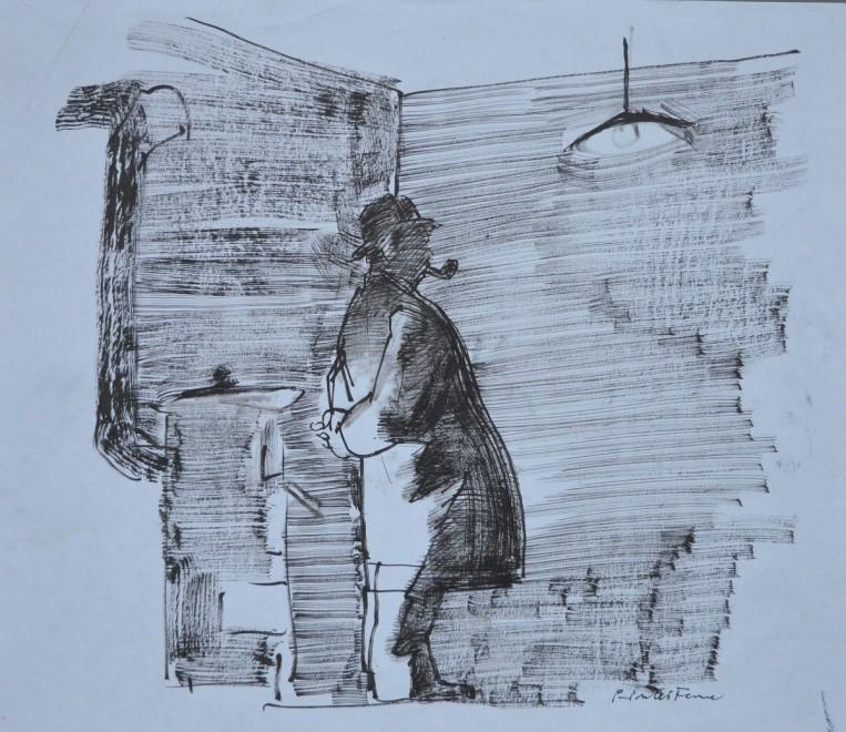 Maigret il nuovo perdonaggio di Simenon, qui visto dal disegnatore Pinter.