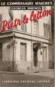 La copertina Fayard di Pietr le Letton