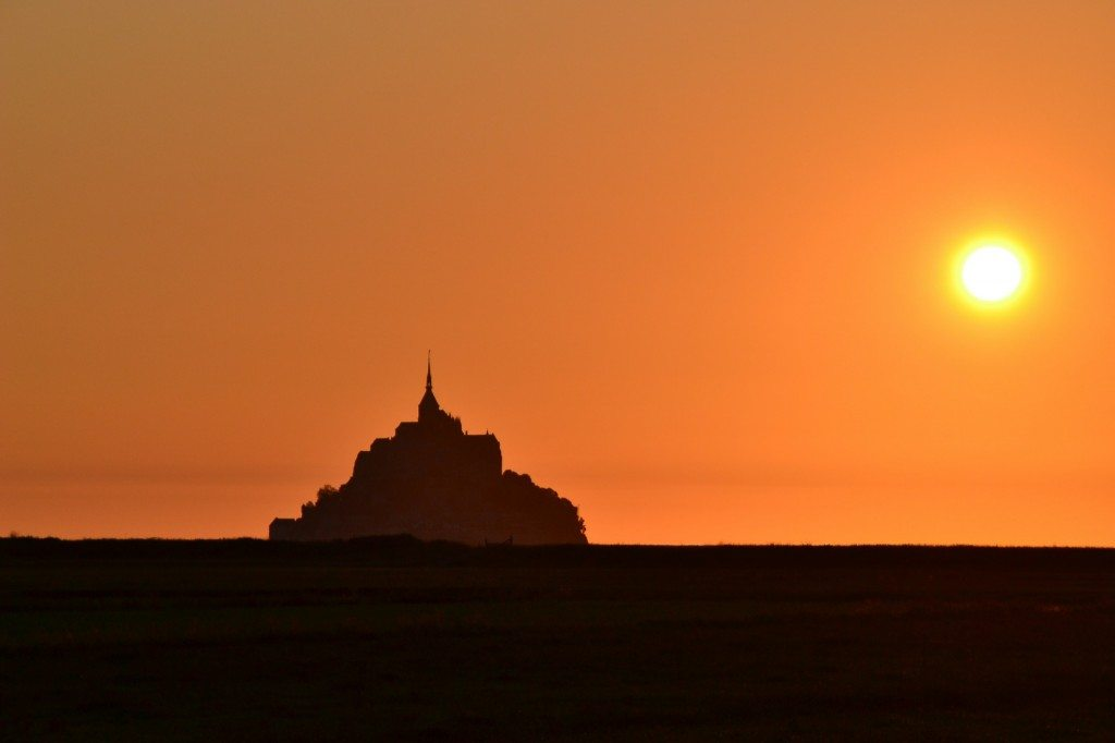 tramonto in normandia
