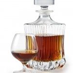 Cognac. Brandy Glass and bottle on white background. clipping pa