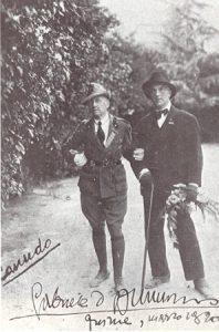 Ricciotto Canudo con Gabriele D'Annunzio