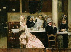 dipinto dal titolo Cafè parigino - Henri Gervex