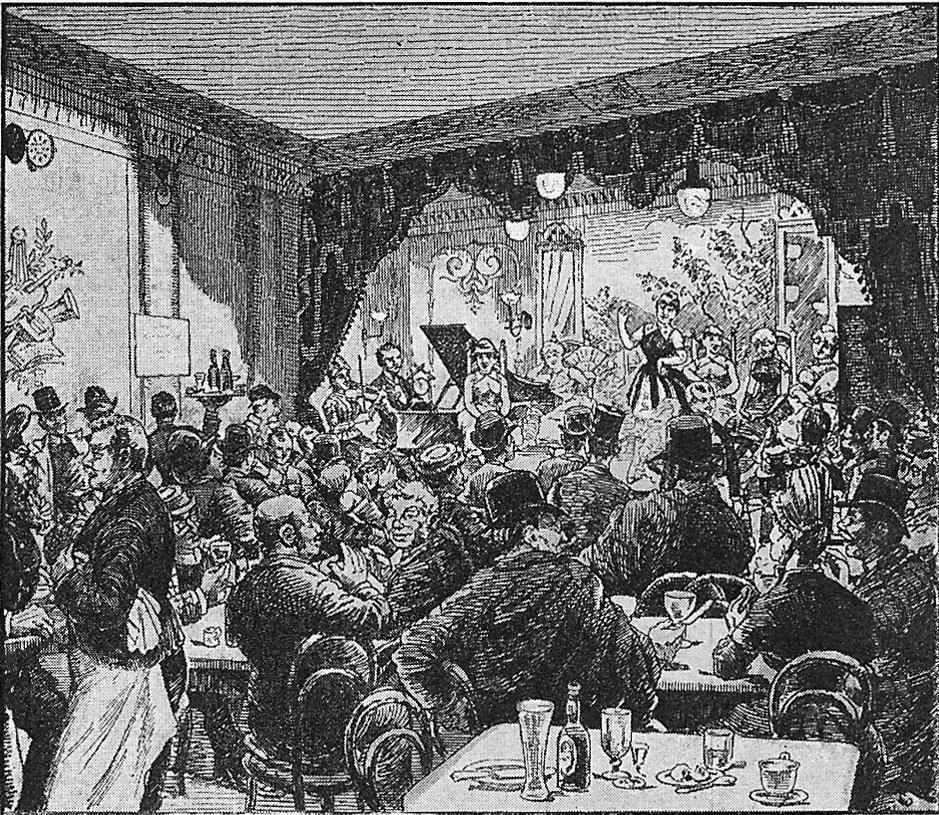 I Café Chantants della Ville Lumière