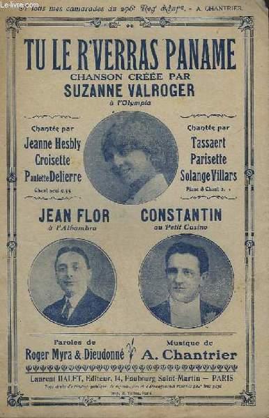 Tu i 'reverras Paname (1917) Suzanne Valroger