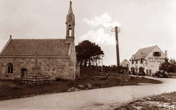 La cappella di Saint-Fiacre alla Punta di Cabellou.